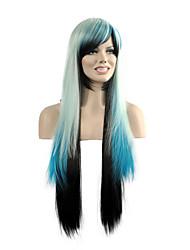 партия синтетические парики популярные прямые многоцветной женщины