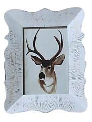 7 * 5 * 1 de madeira maciça estilo europeu / americano Vintage picture frame