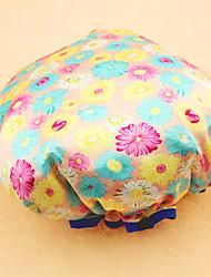 Women Printed Shower Cap Bath Shower Reusable Clear  Hair Cover Spa Salon Care(Random Color)