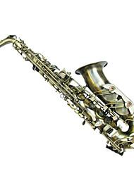 bronze verde dupla de reforço e configuração saxofone alto