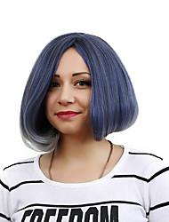 Best-selling Europe And The United States BOBO Wig Wig Smoke Blue Button