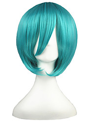 Cosplay Wigs Vocaloid Mikuo Green Short Anime Cosplay Wigs 35 CM Heat Resistant Fiber Male / Female