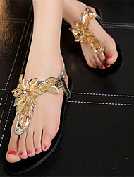 Women's Shoes Flat Heel Toe Ring Sandals Dress Silver/Gold