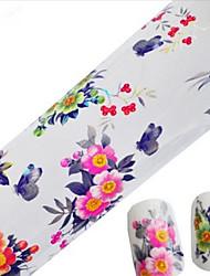 1PCS 100cmx4cm наклейки фольги блеск ногтей прекрасный мультфильм красивый цветок ногтей украшения поделок красоты stzxk01-05