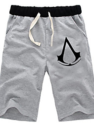 Inspiré par Assassin's Creed Altair Anime Costumes de cosplay Tops Cosplay / Bas Couleur Pleine Noir / Gris Shorts