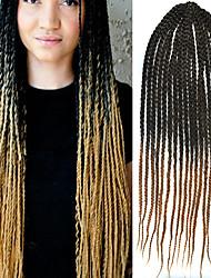 Box Tresses Tresses Twist Extensions de cheveux 24 Kanekalon 3 Brin 100 gramme Braids Hair