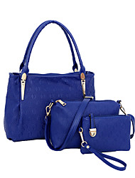 Women PU Formal / Casual / Office & Career / Shopping Tote / Bag Sets White / Blue / Gold / Black