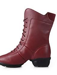 Zapatos de baile(Negro / Blanco / Fucsia) -Moderno-No Personalizables-Tacón Plano
