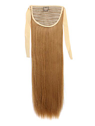 Golden Length 60CM Synthetic Bind Type Long Straight Hair Wig Horsetail(Color 27J)