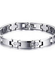 Men's Jewelry Health Care Silver Tungsten Steel Magnetic Therapy Bracelet Fashion Gift Jewelry