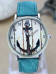 Couple's Fashion Watch Retro Anchor Denim Canvas Belt Quartz Watch(Assorted Colors) Cool Watches Unique Watches