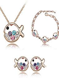 Schmuckset Braut-Schmuck-Sets Kristall Geburtssteine Krystall Weiß Purpur Blau Marineblau und Red Halsketten Ohrringe Für Hochzeit Party1