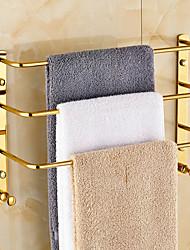 Barre porte-serviette Doré Fixation Murale 14.6*5.1*11.8 inch Laiton Contemporain