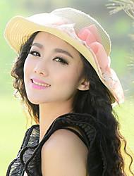 Women Bow Traveling Beach Ms. Summer Straw Hat