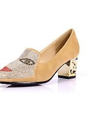 Zapatos de mujer-Tacón Robusto-Tacones / Puntiagudos-Tacones-Oficina y Trabajo / Vestido / Casual-PU-Negro / Azul / Rojo / Almendra