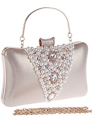 Women-Formal / Event/Party / Wedding / Office & Career / Shopping-Acrylic-Evening Bag-White / Gold