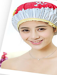 Cartoon Women  Shower Cap Bath Shower Reusable Clear  Hair Cover Spa Salon Care