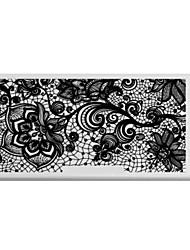 bluezoo retângulo arte impressão prego stamping (c-029)