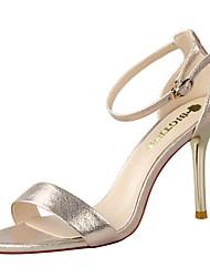 Damen-Sandalen-Kleid-Wildleder-Stöckelabsatz-Komfort-