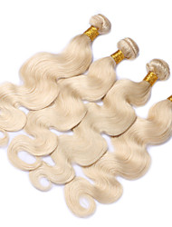 "3pcs/lot 10""-28""  Blond Hair Bundles Body Wave Human Hair Extensions Weft Weave 613"