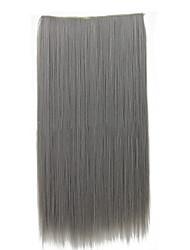 26-дюймовый клип в синтетических серый цвет прямые наращивания волос с 5 зажимами