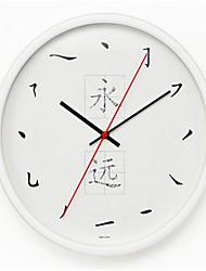Redondo Moderno/Contemporáneo Reloj de pared,Otros Metal 34*34*8