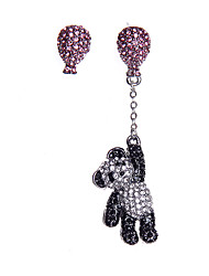 coreano brincos reluzentes diamantes panda borla