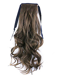 Black Length 50CM Factory Direct Sale Bind Type Curl Horsetail Hair Ponytail(Color 10)