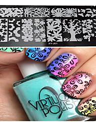 1pcs  New Nail Art Stamping Plates  DIY  Image Templates Tools Nail Beauty XY-J01