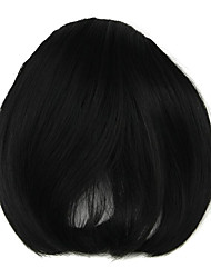 Wig Black 8CM High-Temperature Wire Oblique Bangs Colour 4