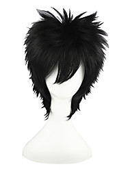Cosplay Wigs Naruto Sasuke Uchiha Black Short Anime Cosplay Wigs 35 CM Heat Resistant Fiber Male / Female