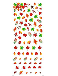 Water Transfer Nails Art Sticker Sexy Colorful Maple Leaf Nail Wraps Sticker Tips Manicura Nail Supplies Decal