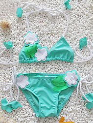 Girl's Cute Handmake Floral Fringe Bikini Set