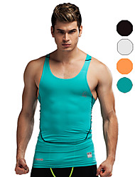 Vansydical Men's Quick Dry Fitness Tops White / Green / Red / Gray / Black / Blue / Light Green / Orange