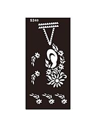 1pc aérographe impression pochoir tatouage temporaire au henné corps de bijoux collier de fleurs diy indien art s240