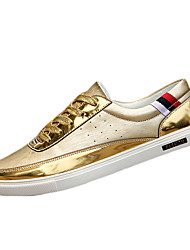 Men's Shoes Casual PU Fashion Sneakers Black / Silver / Gold