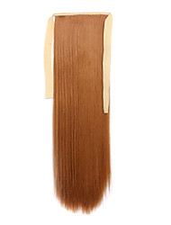 Light Brown  Length 60CM Synthetic Bind Type Long Straight Hair Wig Horsetail(Color 27S)