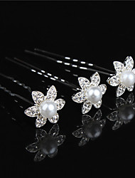 Hot Dish Hair Flower Bride U-Shaped Clamp Set Auger Diamond Tiara Fashion Hair Hair Pin 10pcs