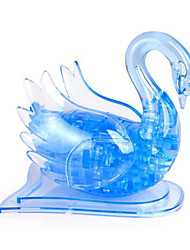 Jigsaw Puzzles 3D Puzzles / Crystal Puzzles Building Blocks DIY Toys Swan 45Pcs ABS Blue Model & Building Toy