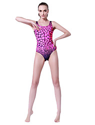 SBART® Women's Swimwear Stretch / Compression One Piece Adjustable Adjustable Pink Pink XL / XXL / XXXL