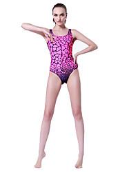 Sportif Femme Maillots de Bain Compression / Elastique One Piece Réglable Réglable Rose dragée Rose dragée XL / XXL / XXXL