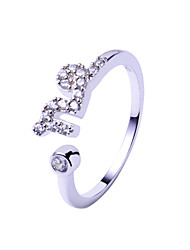 Ring Adjustable Wedding / Party / Daily / Casual Jewelry Silver / Sterling Silver Couple Rings 1pc,Adjustable Transparent