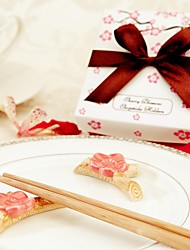 Recipient Gifts - (2pcs/box) Japanese Sakura Chopsticks Holder Bridal Wedding, Practical Kitchen Favors, Beter Gifts©