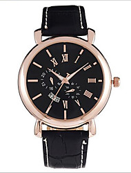 Men's Wrist watch Japanese Quartz Casual Watch Leather Band Black Brand SYNOKE
