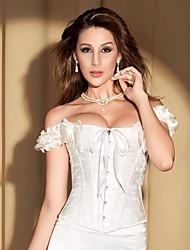 YUIYE® Women Sexy Gothic Corsets Waist Training Corsets and Bustiers Espartilho Waist Cincher Overbust White Black