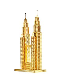 Jigsaw Puzzles 3D Puzzles / Metal Puzzles Building Blocks DIY Toys Famous buildings Metal Gold / Silver Model & Building Toy