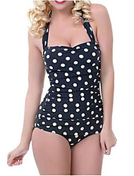 Women Plus Size Dot Print Skirt Swimwear One Piece Swimsuit Big Swimwears Printed Beach Clothes