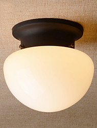 Retro Country Mini Style Mushroom Flush Mount Ceiling Fixture with Frosted Glass Shade Kitchen Entry Hallway