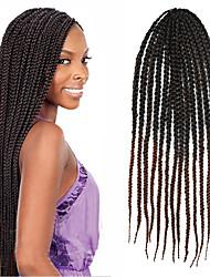 Box Braids Twist Braids Hair Extensions 24 Kanekalon 3 Strand 100 gram Hair Braids