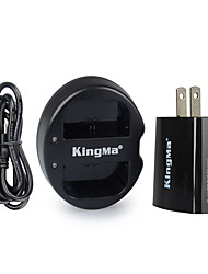 KingMa Dual USB Charger for Canon LP-E6 Battery and Canon EOS 5D2 5D3 70D 6D 7D 7D2 60D with USB Adapter Plug Power
